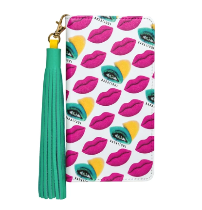 BADACIOUS/ KISS KISS iPHONE CASE PINK-Wallet style