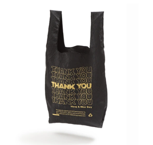 OPEN EDITIONS THANK YOU THANK YOU Tote Black x Gold