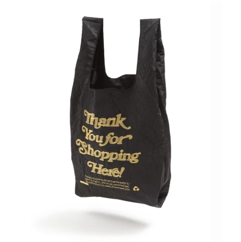 OPEN EDITIONS Thank You For Shopping Here Tote Black x Gold