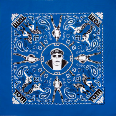 Kweer cards TOM OF FINLAND BANDANAS Blue
