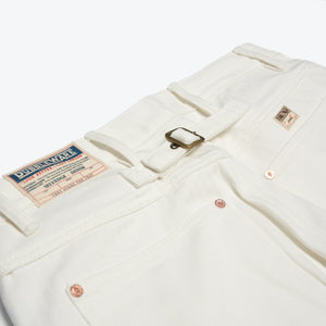 Fenway 5 Pocket Selvedge Jean - White Herringbone