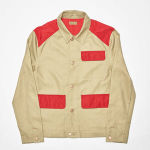 Hunters Jacket - Beige / Hunting Red