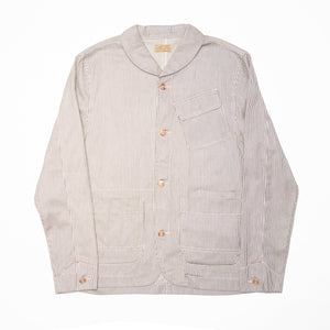 Shawl Collar Jacket - Selvedge Hickory