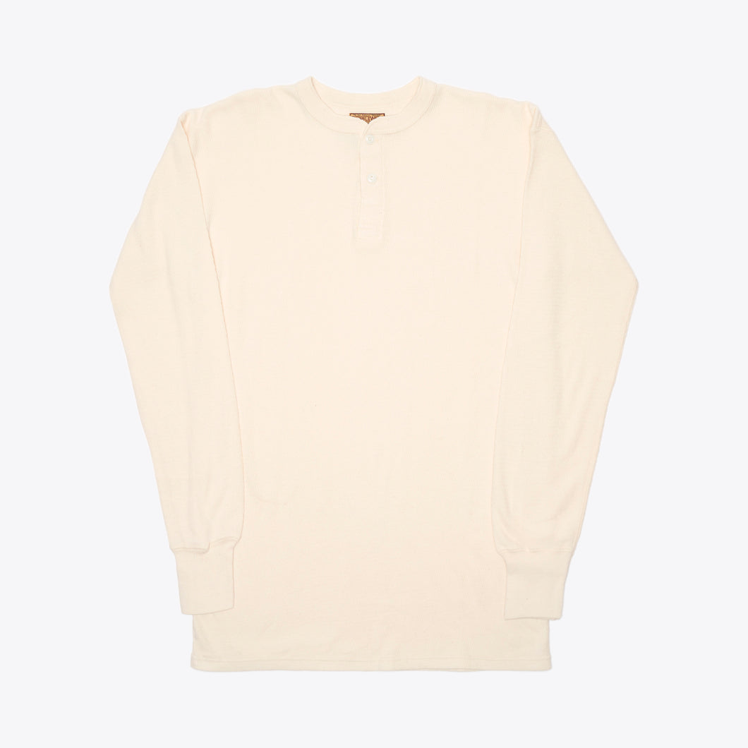Made in Japan Henley Thermal - Off White