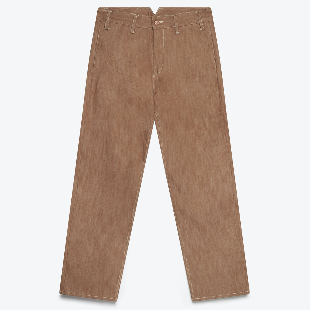 Lyon Workwear Pant - Brown Selvedge