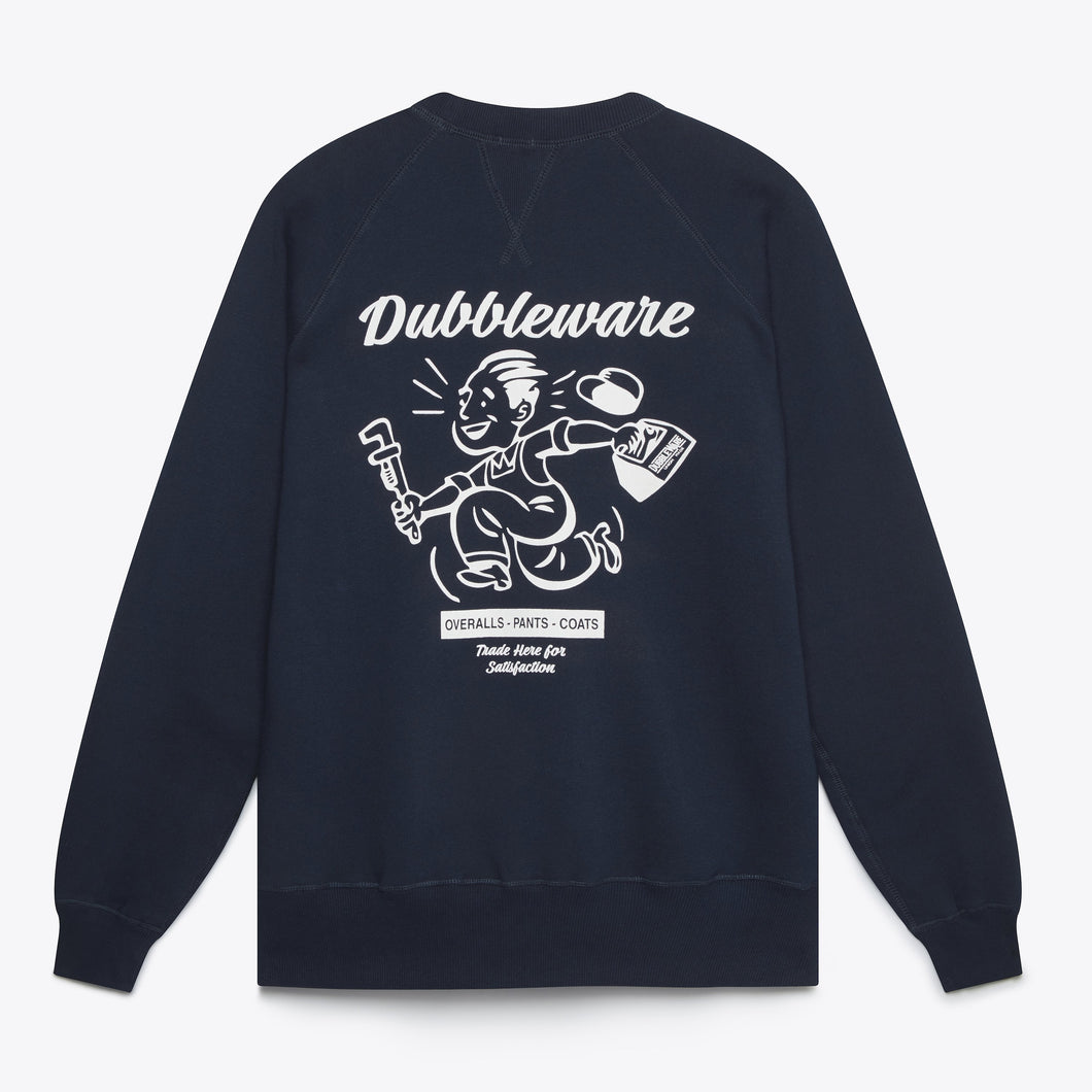 Buzz Raglan Sweat - Navy