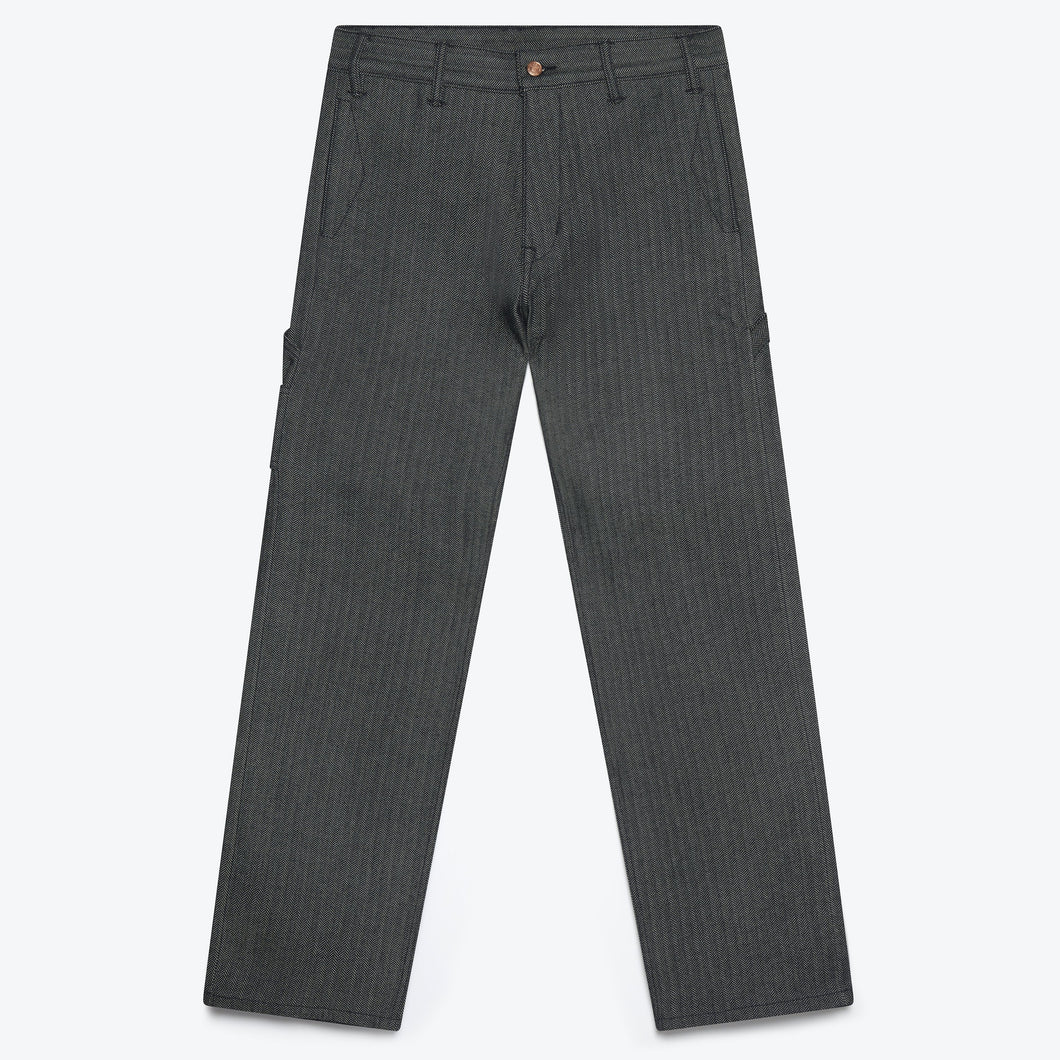 Avignon Carpenter Pant - Navy Herringbone