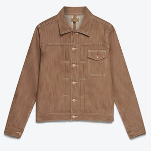 Nimes Denim Jacket - Brown Selvedge