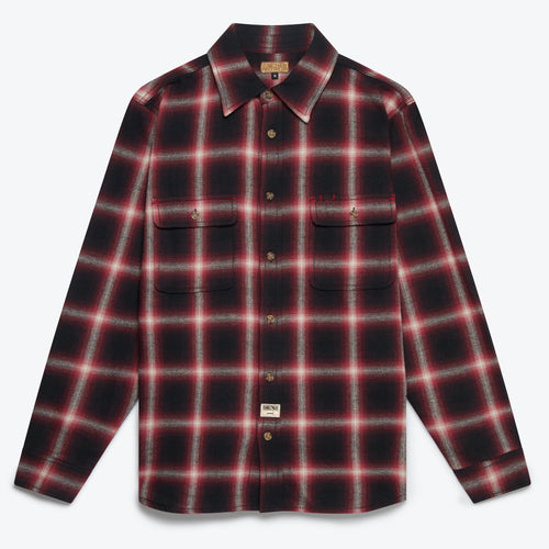 Milton Ombre Shirt - Red / Black Ombre