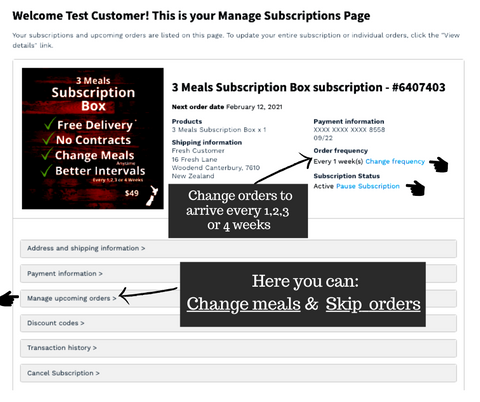 Manage your subscription
