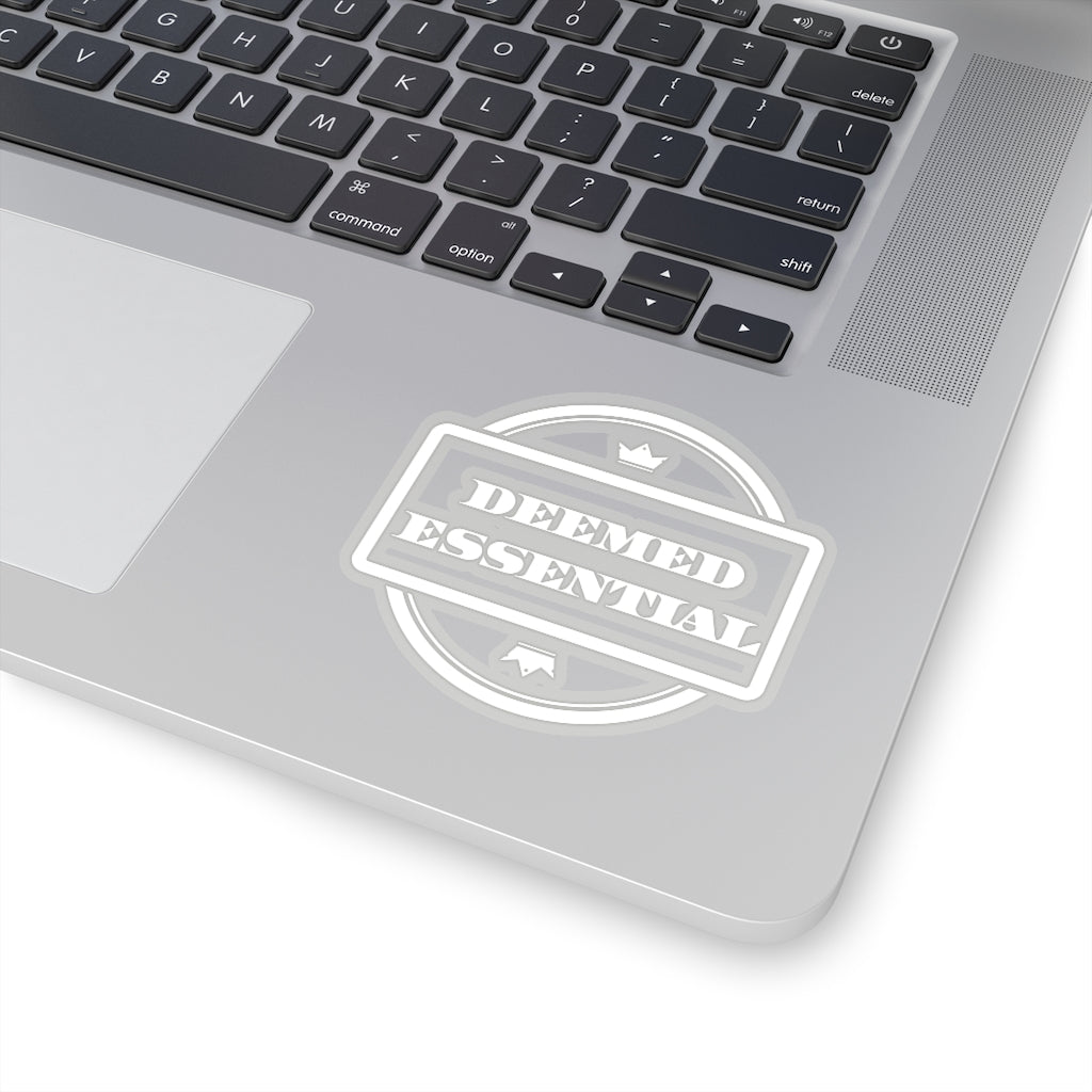 Deemed Essential Sticker Og Logo (White)