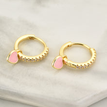 Load image into Gallery viewer, Pink Heart Hoop