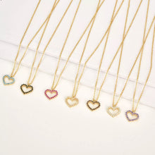 Load image into Gallery viewer, Heart Mini Necklace Clear