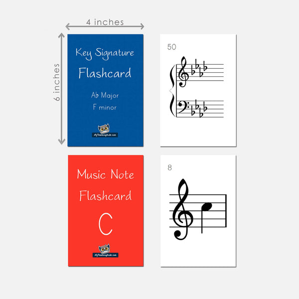 Note and Key Signature Flashcards (Teacher Set)