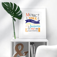 Printable - Music Gives a Soul to the Universe