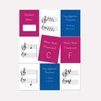 Note and Key Signature Flashcards (Student Set)