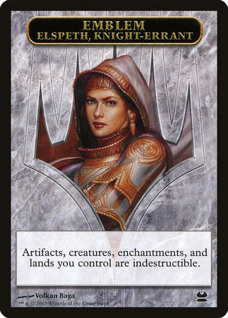 Emblem - Elspeth, Knight-Errant [Modern Masters Tokens] | Not Another Game Store