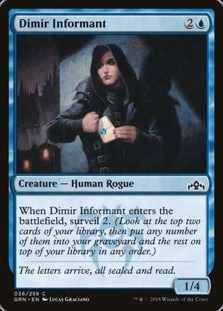 Dimir Informant [Guilds of Ravnica] | Not Another Game Store