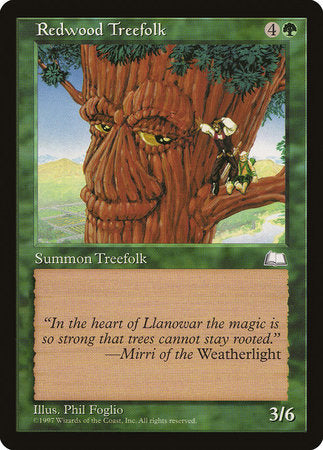 Redwood Treefolk [Weatherlight] | Not Another Game Store
