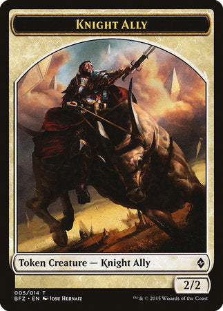 Knight Ally Token [Battle for Zendikar Tokens] | Not Another Game Store