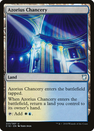 Azorius Chancery [Commander 2018] | Not Another Game Store