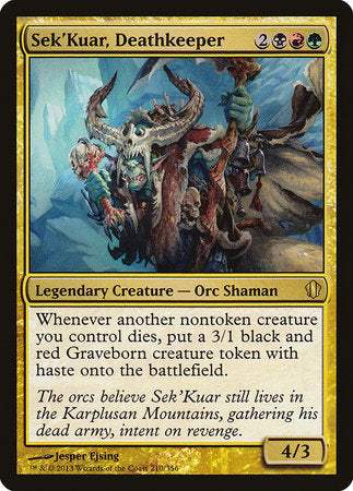 Sek'Kuar, Deathkeeper [Commander 2013] | Not Another Game Store