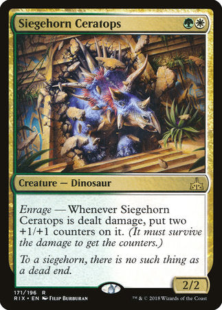 Siegehorn Ceratops [Rivals of Ixalan] | Not Another Game Store