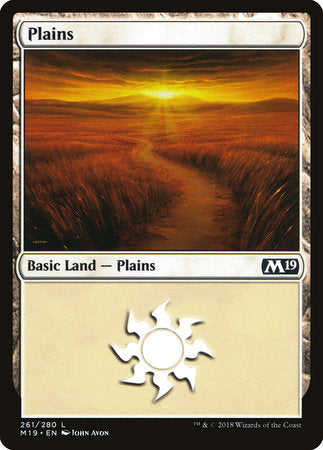 Plains (261) [Core Set 2019] | Not Another Game Store