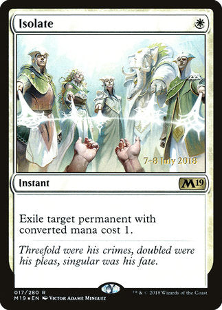 Isolate [Core Set 2019 Promos] | Not Another Game Store