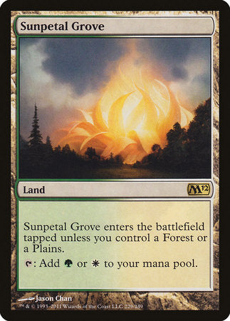 Sunpetal Grove [Magic 2012] | Not Another Game Store