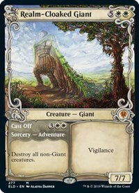 Realm-Cloaked Giant // Cast Off (Showcase) [Throne of Eldraine] | Not Another Game Store