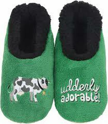 Snoozies Green Slippers