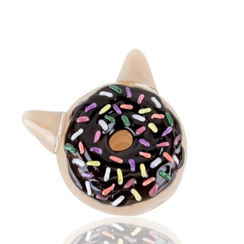 Empire Glassworks Chocolate Kitty Donut Hand pipe - dankrips