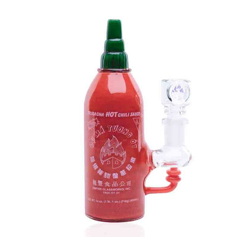 Empire Glassworks - Mini Rig - Sriracha Bottle - dankrips