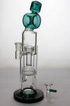 "Infyniti Glass 12"" Honey comb & Showerhead Perc Water Pipe - dankrips"