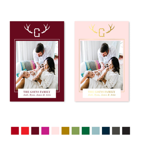 Antlers holiday cards