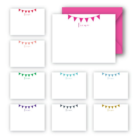 Partytime personalized notecards