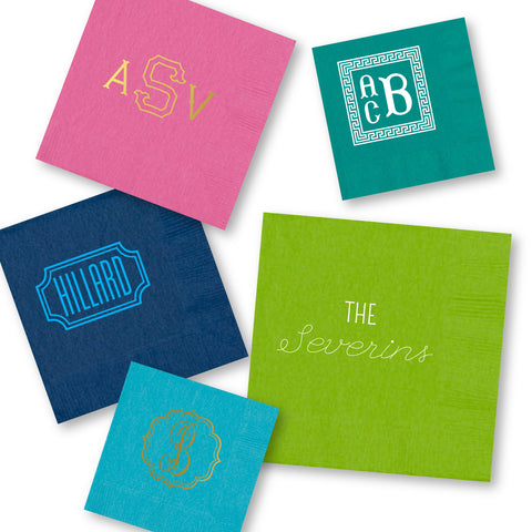 3ply cocktail napkins with personalization