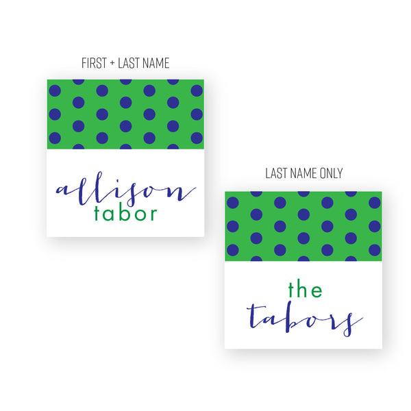 Polka dot calling cards/gift tags