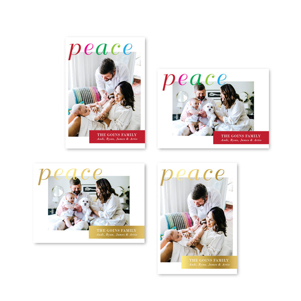 Peace holiday cards