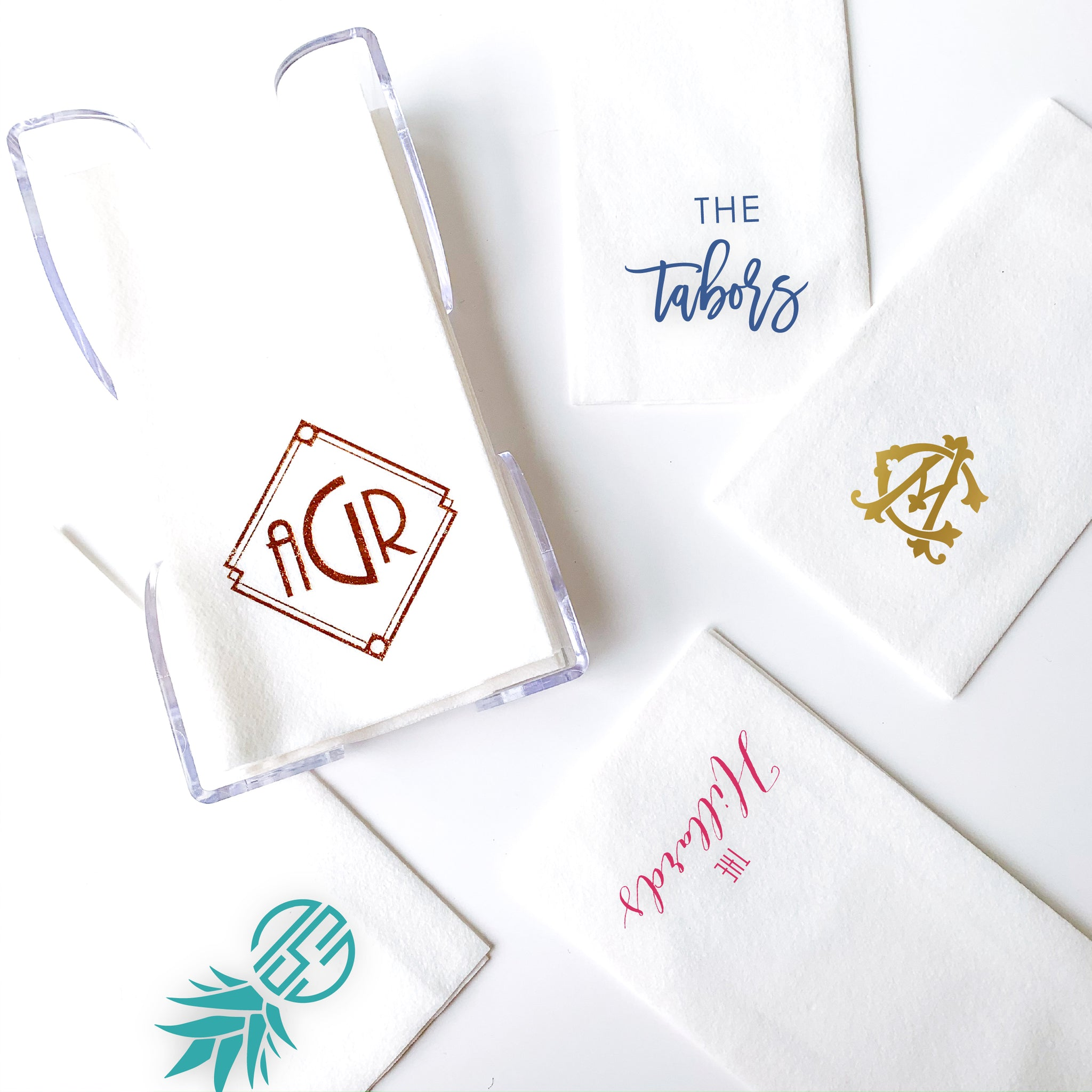 Personalized premium white guest towels