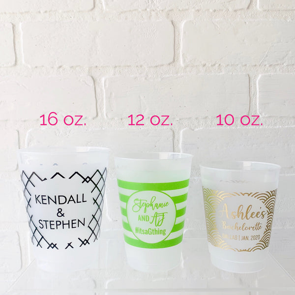 Frosted cups with personalization