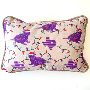 Holiday horned frog pillow