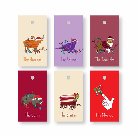 School spirited gift tags