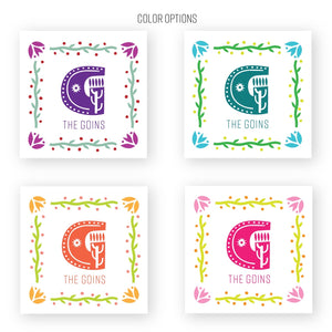 Fiesta calling cards / gift tags