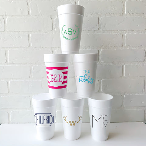 Personalized foam cups