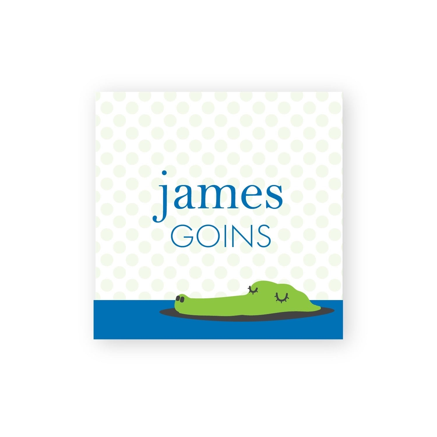 Alligator calling cards/gift tags