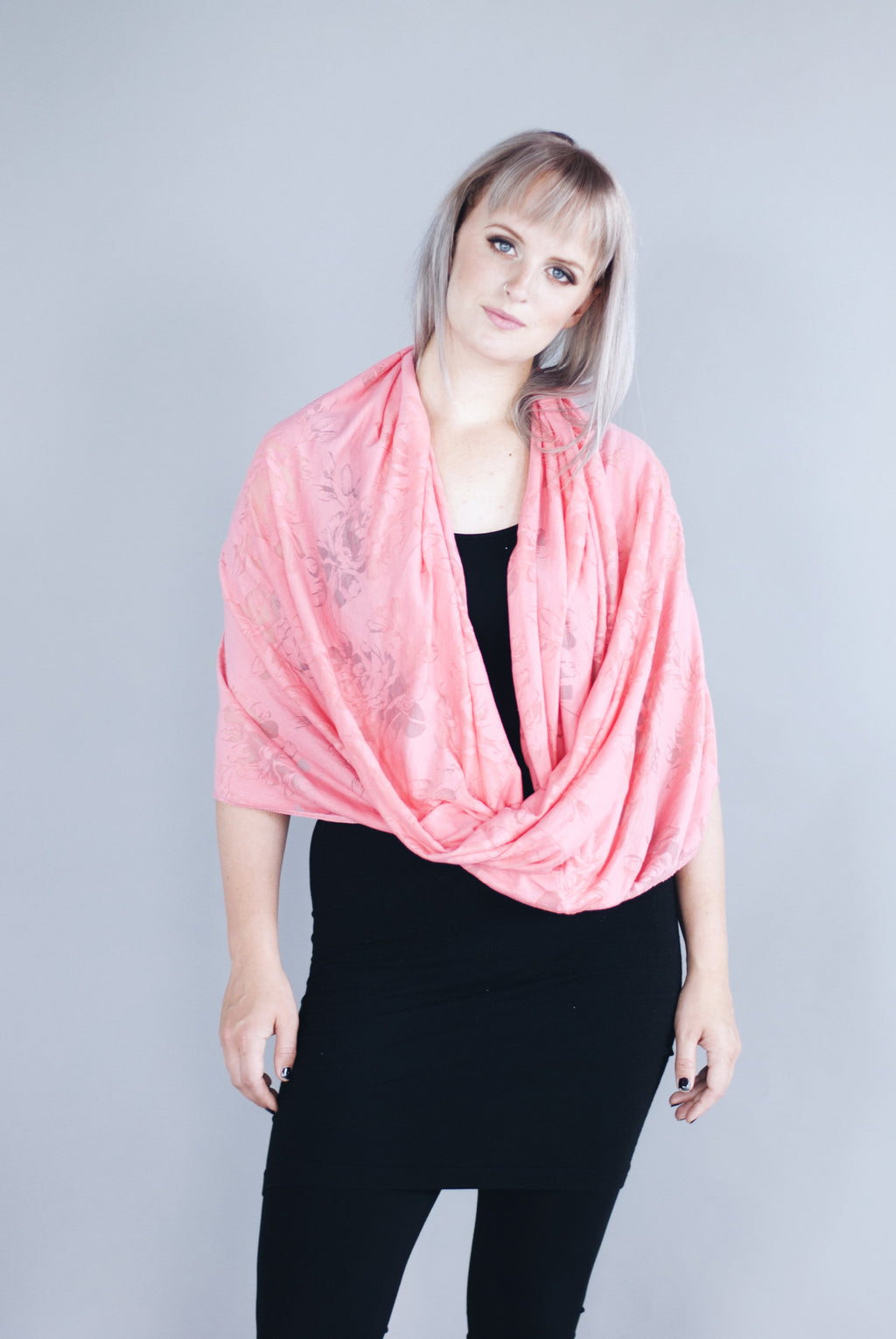 Infinity Shawl - Bellina Pink Floral