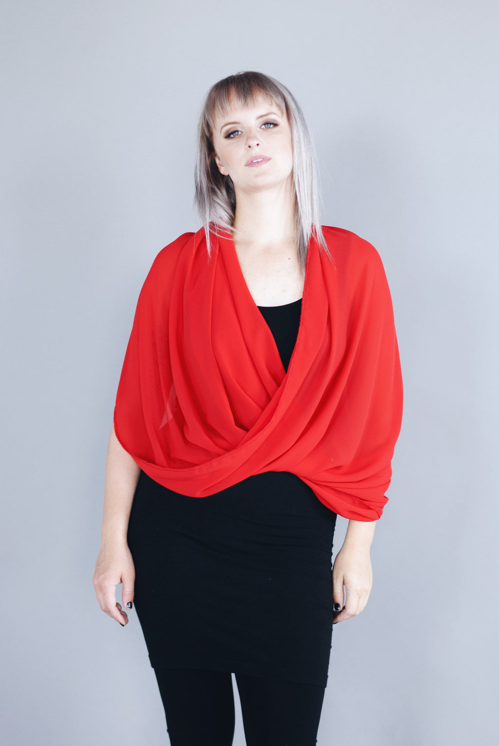 Infinity Shawl - Red