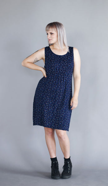 Sadie Dress - Navy Confetti